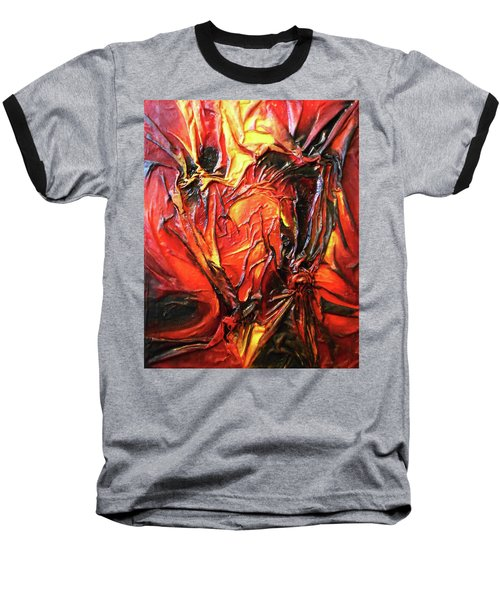 Volcanic Fire Baseball T-Shirt