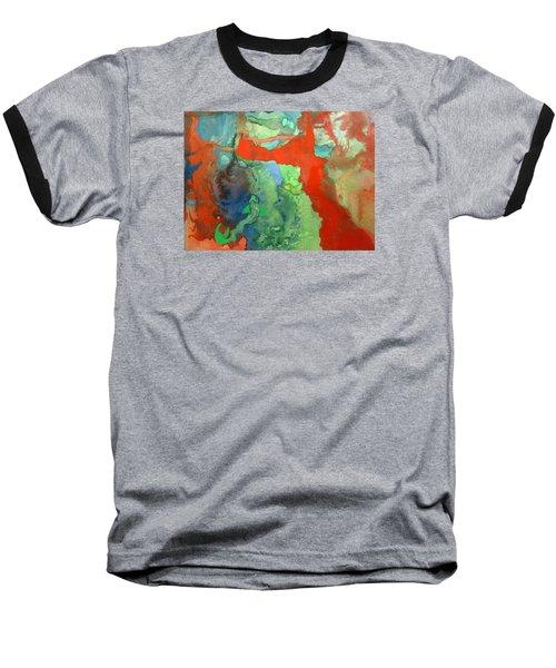 Volcanic Island Baseball T-Shirt