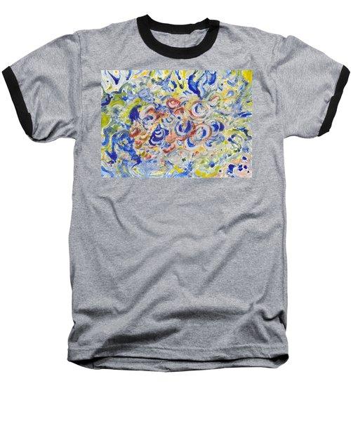 Volcanic Sea Acrylic/water Baseball T-Shirt