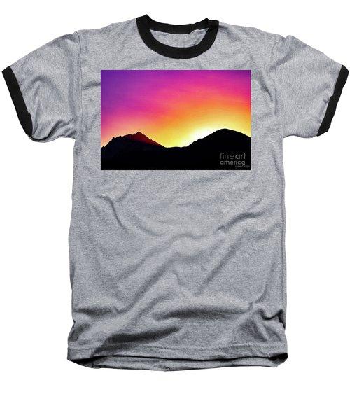 Volcanic Sunrise Baseball T-Shirt