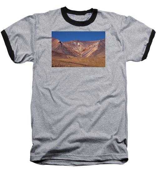 Volcano Crater In Siloli Desert Baseball T-Shirt by Aivar Mikko