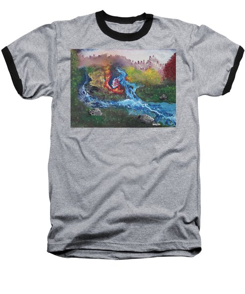 Baseball T-Shirt featuring the painting Volcano Delta by Antonio Romero