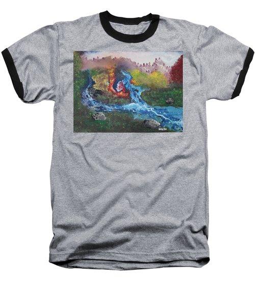 Volcano Delta Baseball T-Shirt