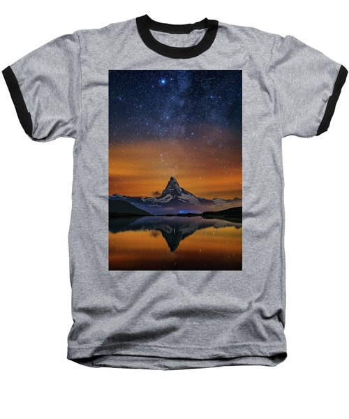 Volcano Fountain Baseball T-Shirt