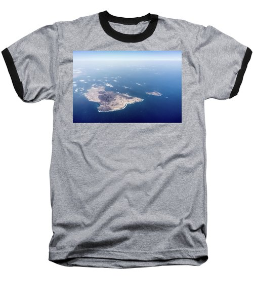Volcano Island Baseball T-Shirt by Teemu Tretjakov