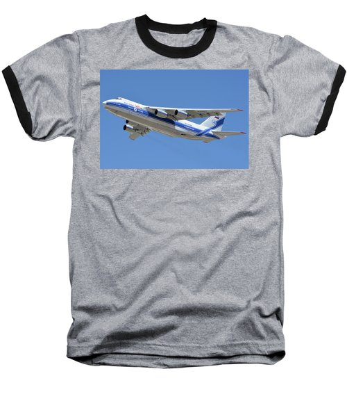 Baseball T-Shirt featuring the photograph Volga-dnepr An-124 Ra-82068 Take-off Phoenix Sky Harbor June 15 2016 by Brian Lockett