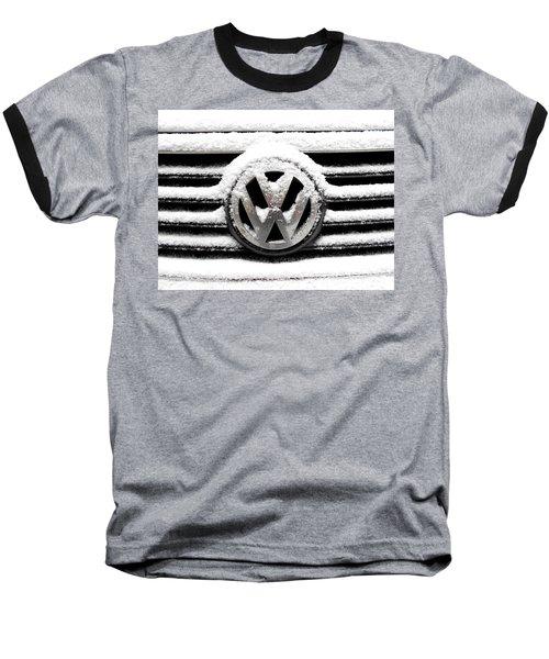 Volkswagen Symbol Under The Snow Baseball T-Shirt