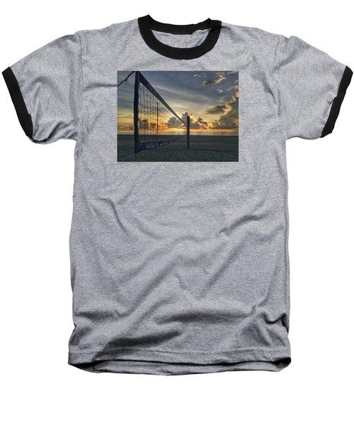 Volleyball Sunrise Baseball T-Shirt