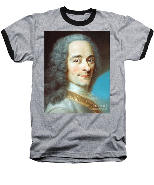 Baseball T-Shirt featuring the painting Voltaire by Pg Reproductions