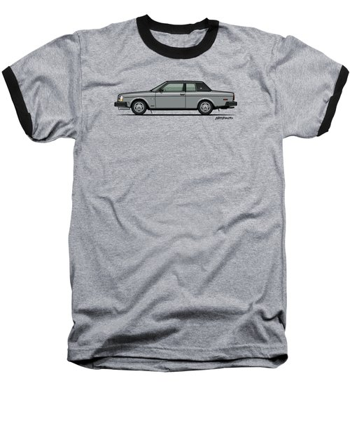 Volvo 262c Bertone Brick Coupe 200 Series Silver Baseball T-Shirt by Monkey Crisis On Mars