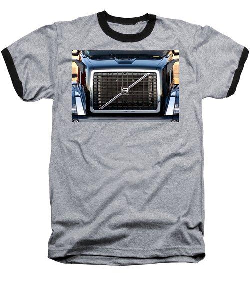 Volvo Blk And Silver Baseball T-Shirt