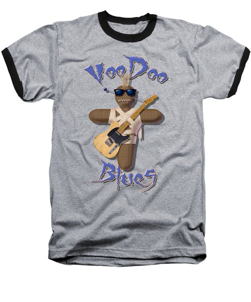 Voodoo Blues T Shirt Baseball T-Shirt by WB Johnston