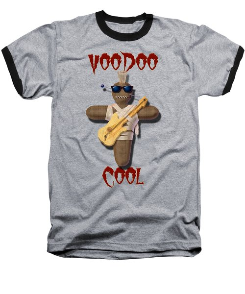 Baseball T-Shirt featuring the digital art Voodoo Cool by WB Johnston