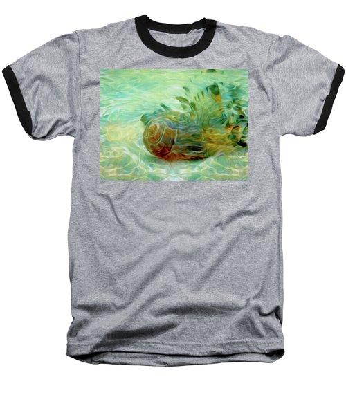 Baseball T-Shirt featuring the mixed media Vortex 8 by Lynda Lehmann