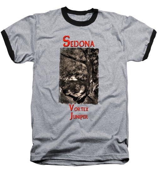 Vortex Juniper Clinging To A High Perch Baseball T-Shirt