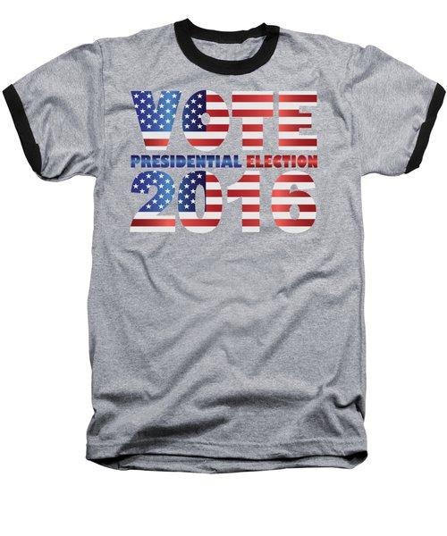 Vote 2016 Usa Presidential Election Illustration Baseball T-Shirt by Jit Lim