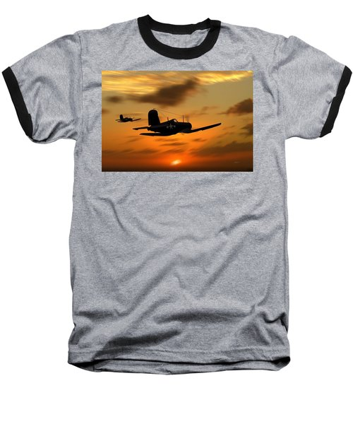 Vought Corsairs At Sunset Baseball T-Shirt