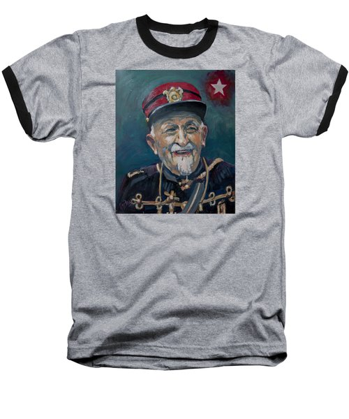 Baseball T-Shirt featuring the painting Voulez Vous Un Pelske by Nop Briex