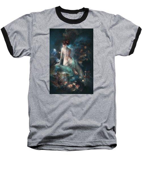 Baseball T-Shirt featuring the digital art Voyage by Te Hu