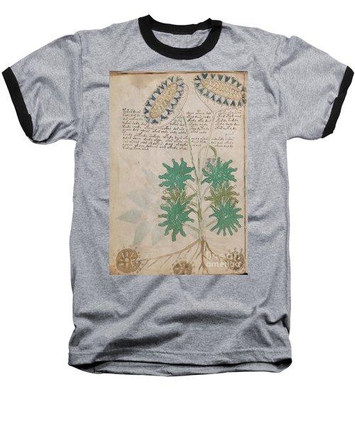 Voynich Flora 04 Baseball T-Shirt