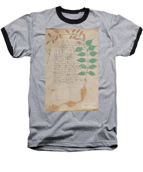 Voynich Flora 07 Baseball T-Shirt