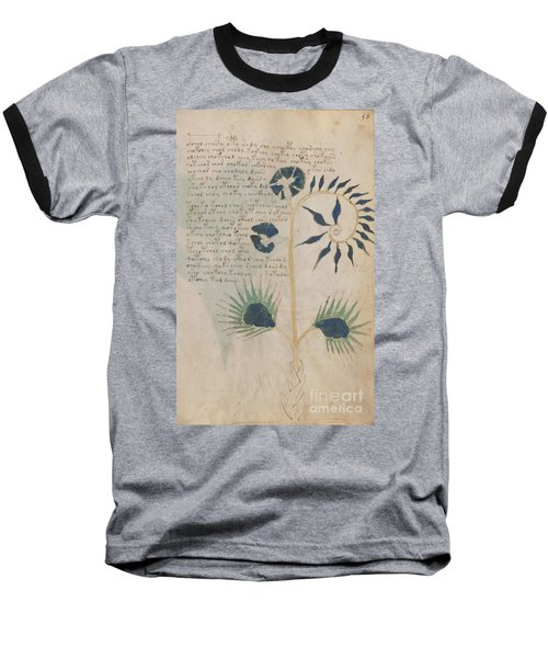 Voynich Flora 12 Baseball T-Shirt