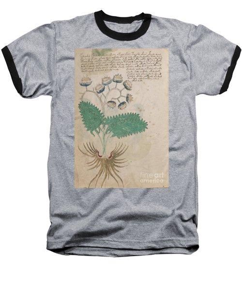 Voynich Flora 14 Baseball T-Shirt