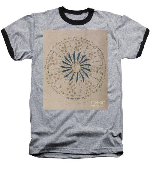 Voynich Manuscript Astro Rosette 1 Baseball T-Shirt