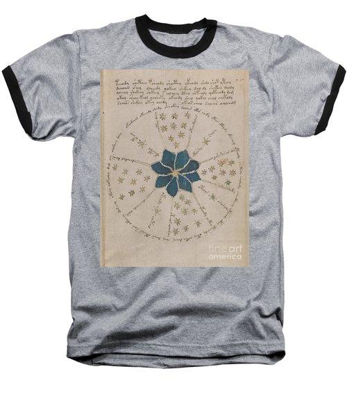 Voynich Manuscript Astro Rosette 2 Baseball T-Shirt