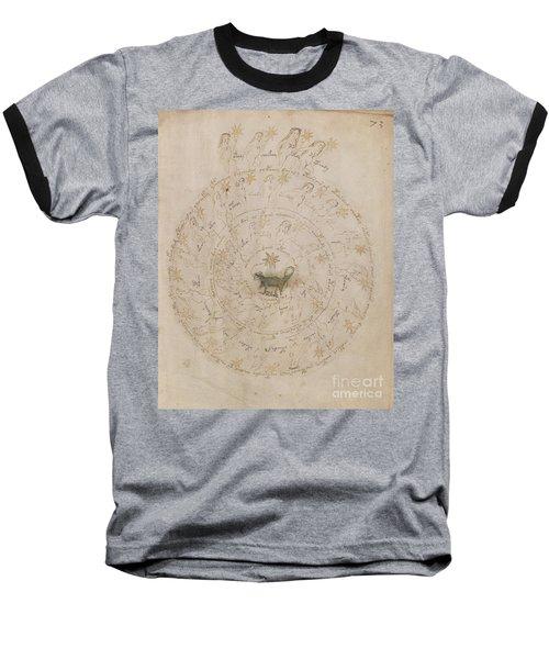 Voynich Manuscript Astro Scorpio Baseball T-Shirt