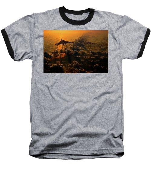Vulcan Bomber Sunset Baseball T-Shirt by Ken Brannen