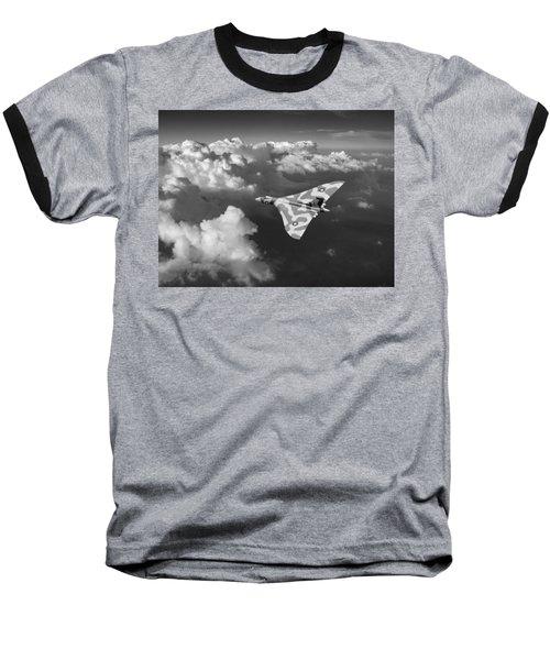 Vulcan Catching The Light Black And White Baseball T-Shirt