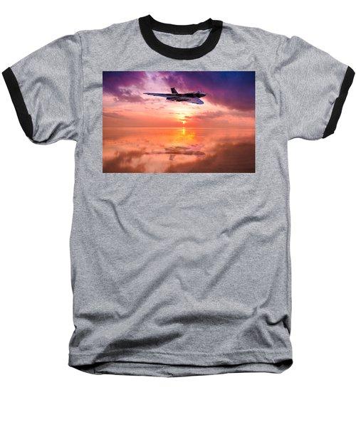 Vulcan Dawn Colour Baseball T-Shirt by Ken Brannen