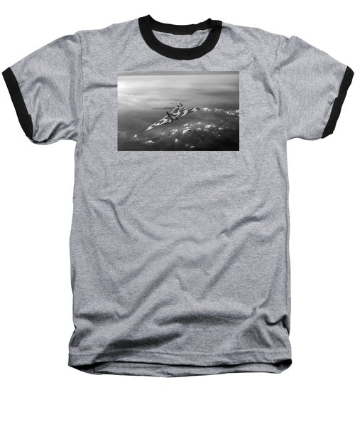 Vulcan Over The Channel Black And White Version Baseball T-Shirt