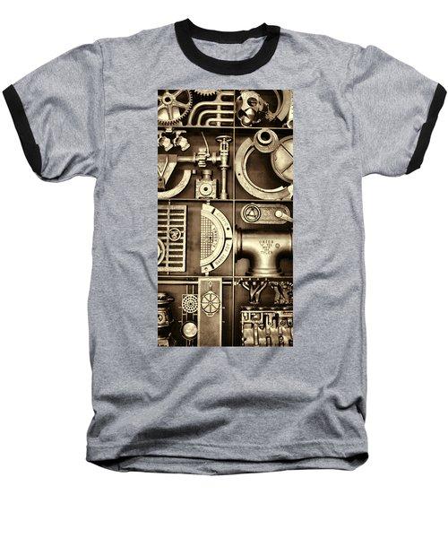 Vulcan Steel Steampunk Ironworks Baseball T-Shirt