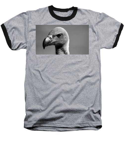 Vulture Eyes Baseball T-Shirt by Martin Newman