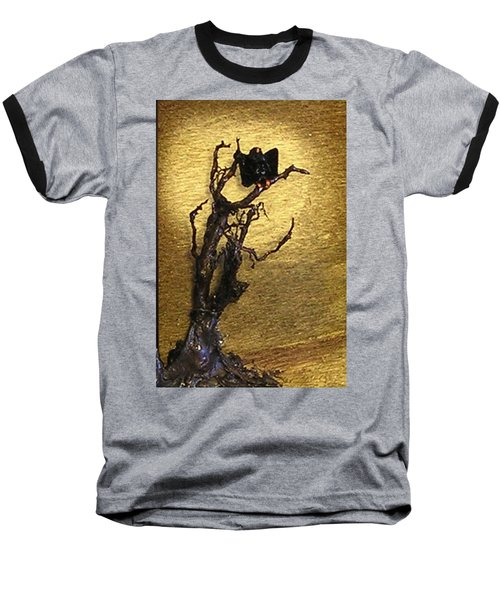 Vulture With Textured Sun Baseball T-Shirt