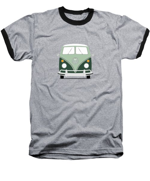 Vw Bus Green Baseball T-Shirt by Mark Rogan