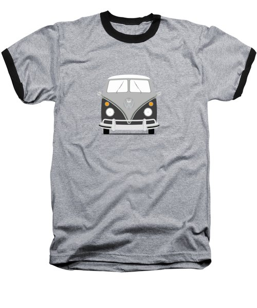 Vw Bus Grey Baseball T-Shirt