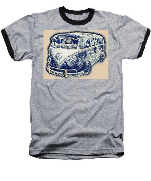 Vw Camper Van Waves Baseball T-Shirt