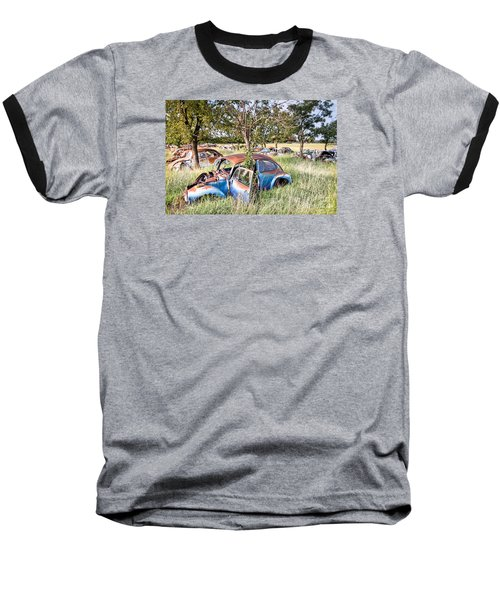 Vw Graveyard Baseball T-Shirt by Lawrence Burry
