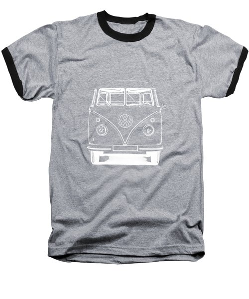Vw Van Graphic Artwork Tee White Baseball T-Shirt