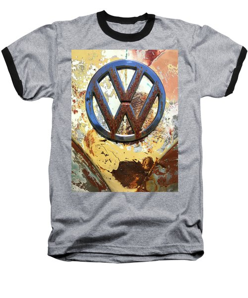 Vw Volkswagen Emblem With Rust Baseball T-Shirt by Kelly Hazel