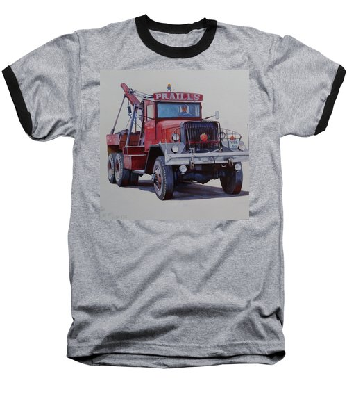 Baseball T-Shirt featuring the painting Ward La France Wrecker by Mike Jeffries