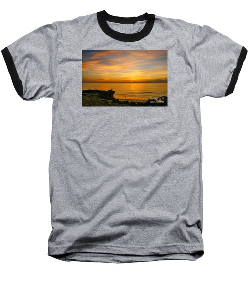 Wading In Golden Waters Baseball T-Shirt by Tom Claud