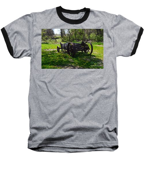Wagon And Dandelions Baseball T-Shirt