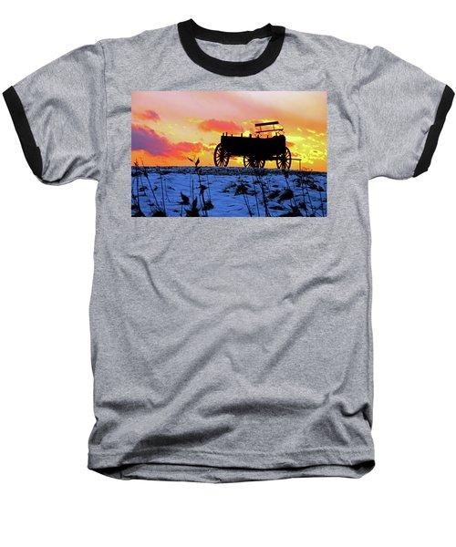 Wagon Hill At Sunset Baseball T-Shirt