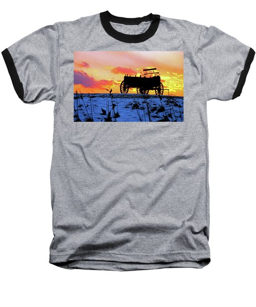 Wagon Hill At Sunset Baseball T-Shirt