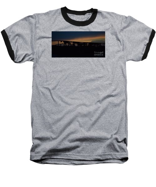 Baseball T-Shirt featuring the photograph Wagon Train Slihoutte by Mark McReynolds