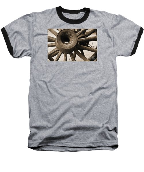 Baseball T-Shirt featuring the photograph Wagon Wheel Hub by Kirt Tisdale